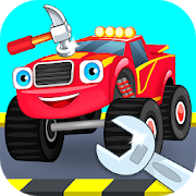 Car Tires And Rims, Repair Machines Monster Trucks  Icon, Car Tires And Rims