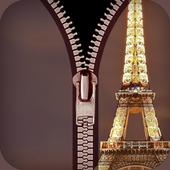 zipper lock screen Paris 1.0