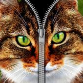 cat zipper lock screens free 1.0