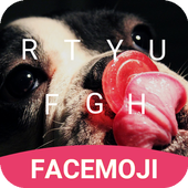 Dog Candy Emoji Keyboard Theme for Messenger v1.0