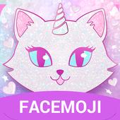 Pink Glitter Unicorn Cat Keyboard Theme for Girls v1.0