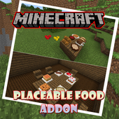 Placeable Food Addon for MCPE 1.0