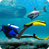 Underwater Scuba Diver Survival: Shark Hunger Game 1.0