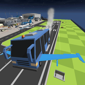 Airport Bus Flying Simulator