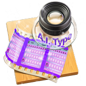 Pink and purple AiType Theme 1.2