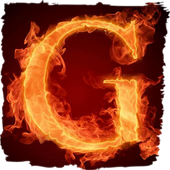 The fiery letter G live paper 1.1