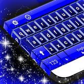 Theme Keyboard Blue NeonNew Emojis Keyboard ThemesPersonalization