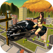 Flying Moto Bike City Ride 3D