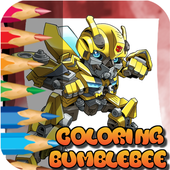 Coloring Bumble bee and Optimus 1.0