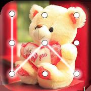 Teddy Bear Pattern Lock Screen 4.4