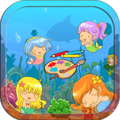 Mermaids Coloring Book Kids 1.0
