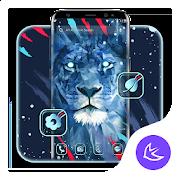 Brave Blue Lion APUS Launcher theme 62.0.1001
