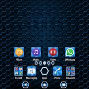 Metallic Texture Blue XZ Theme 1.0.7