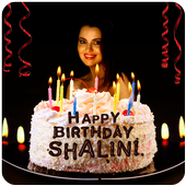 Birthday Cake with Name and Photo on Cake 1.0