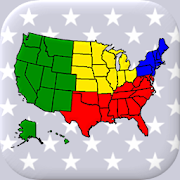 50 US States Map, Capitals & Flags - American Quiz 2.3