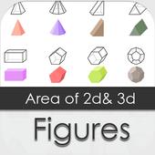 Surface Area of 2d & 3d Shape 1.0