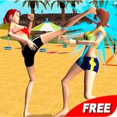Volleyball Beach Girl Fight