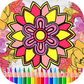 Flowers Mandala Coloring BookBarry DevCasual