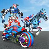 US Police Horse Robot Bike Transform Wild Cop Game 1.0