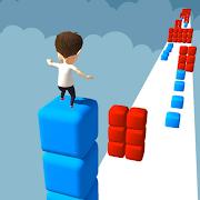 Cube Stacker Surfer 3D - Run Free Cube Jumper Game