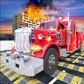 Fire Fighter Truck: Speed Bump Car Crash Test 1