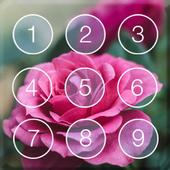 Rose Cute Pink Flower Theme Plant Screen Lock 1.0
