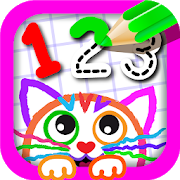123 Draw🎨 Toddler counting for kids Drawing games 1.2.4.4