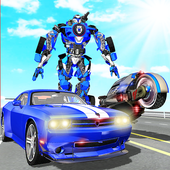 US Police Muscle Car Transform Bike Robot Games 3.0
