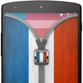 France Flag Zip Screen Lock 1.0