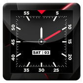Blood Red HD Analog Clock LWP 1.3