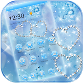 Blue Diamond Glitter Theme Wallpaper 1.1.6
