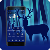 Blue Forest Deer Theme 1.1.3