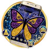 Blue Glitter Butterfly Theme 1.1.2