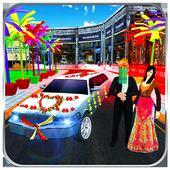 Bridal Limo Car & Wedding Bus 3d