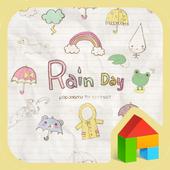 Rain day 여름감성 도돌런처 테마 1.0