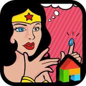 Funny wonder woman dodol theme 4.2