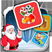 Christmas Memory Matchup-SantaImazinSoftBoard