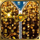 Golden theme Zipper LockScreen 3.157