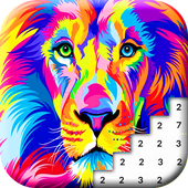 Lion Color By Number: Animals Pixel Art 1
