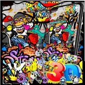 Colorful Graffiti Monkey Gravity Theme 1.1.2
