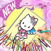 Pour enfants : Coloriage Hello Kitty 2018