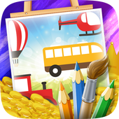 Vehicles Coloring Books 1.0