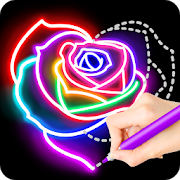 Learn To Draw Glow Flower 1.0.5