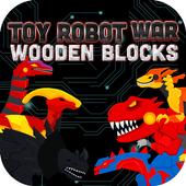 Dinosaur Robot Wooden Blocks 1.5