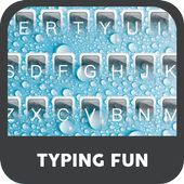 Blue Water Droplets Keyboard Theme