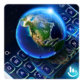 3D Galaxy Earth Keyboard Theme 6.6.1.2019
