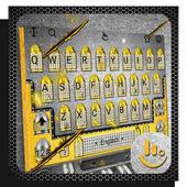 3D Gold Gunnery Battle Bullet Keyboard Theme 6.8.20.2018