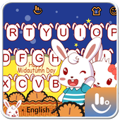 Cute Mid Autumn Keyboard Theme 6.9.20.2018