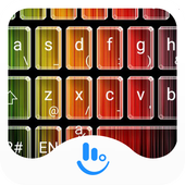 Gradient Stripe Emoji Keyboard