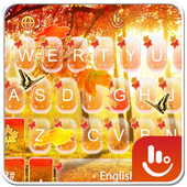 Live Butterfly Autumn Leaf Keyboard Theme 6.3.26.2019